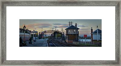 Evening At Bo'ness Station Framed Print