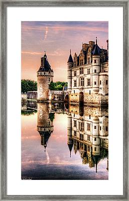 Evening At Chenonceau Castle Framed Print