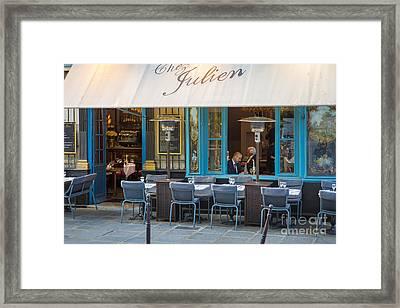 Evening At Chez Julien Framed Print by Brian Jannsen