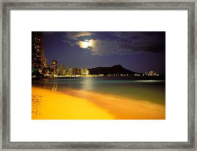 Evening At Diamond Head Framed Print