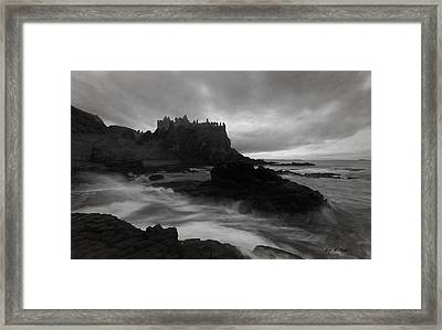 Framed Print featuring the photograph Evening At Dunluce by Roy  McPeak