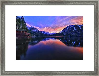 Evening At Fallen Leaf Lake Framed Print by Jacek Joniec