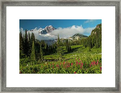 Evening At Indian Henry's Framed Print
