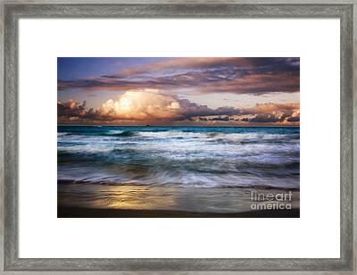 Evening At Kailua Beach Framed Print by Charmian Vistaunet