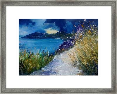 Evening At Keem Bay Co Mayo Framed Print