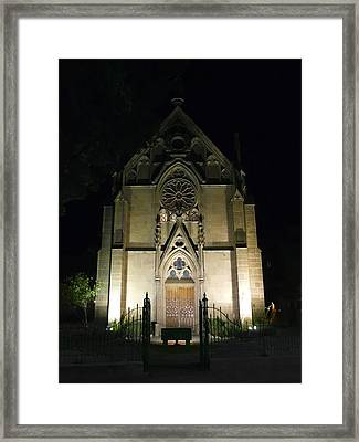 Framed Print featuring the photograph Evening At Loretto Chapel Santa Fe by Kurt Van Wagner