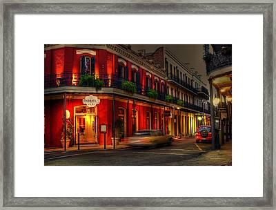 Evening At Muriels Framed Print by Greg and Chrystal Mimbs