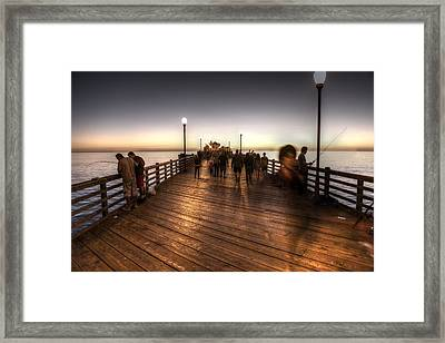 Evening At Oceanside Pier Framed Print