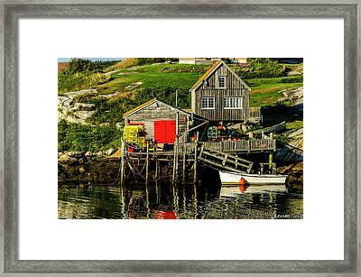 Evening At Peggys Cove Framed Print by Ken Morris