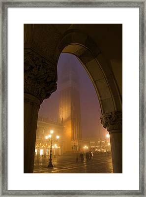 Evening At Piazza San Marcos, Venice Framed Print