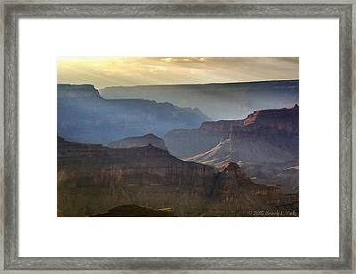Framed Print featuring the photograph Evening At Pima Point by Beverly Parks