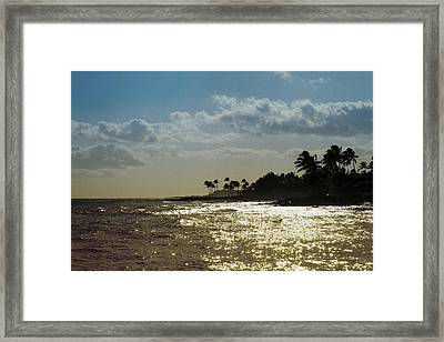 Evening At Poipiu Kauai Framed Print