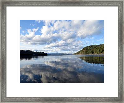 Evening At Priest Lake 1 Framed Print by Feva  Fotos