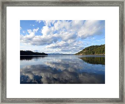 Evening At Priest Lake Framed Print by Feva  Fotos