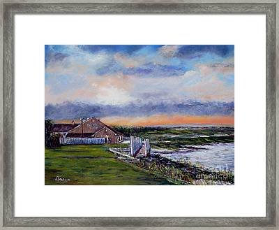 Evening At The Bay Framed Print by Joyce A Guariglia
