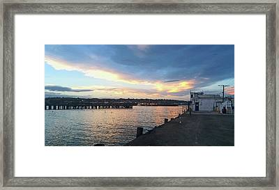 Framed Print featuring the photograph Evening At The Bay by Nareeta Martin
