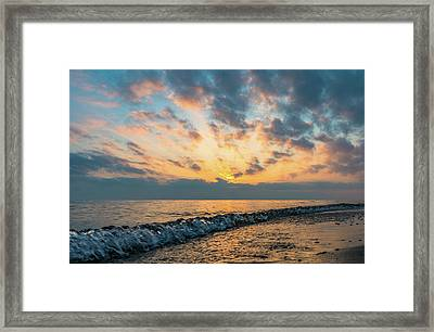 Evening At The Beach Framed Print by Aaron Burden