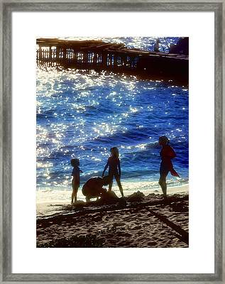 Evening At The Beach Framed Print by Stephen Anderson