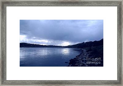 Evening At The Cape Cod Canal  Framed Print