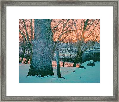 Evening At The Conestoga Framed Print by Paul Kercher