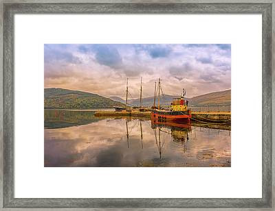 Evening At The Dock Framed Print by Roy McPeak