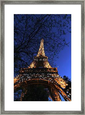 Evening At The Eiffel Tower Framed Print by Heidi Hermes