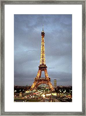 Evening At The Eiffel Tower Framed Print by Mike McGlothlen