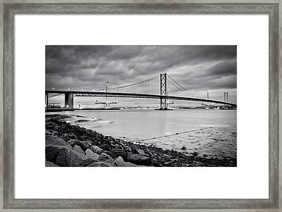 Evening At The Forth Road Bridges Framed Print by RKAB Works