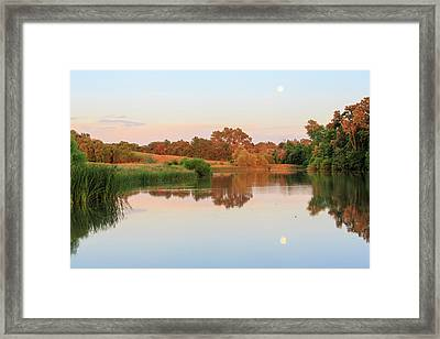 Framed Print featuring the photograph Evening At The Lake by David Chandler