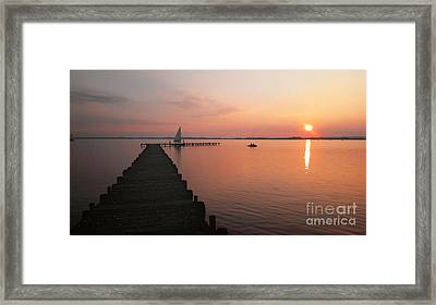 Evening At The Lake In Germany Framed Print