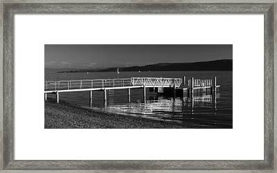 Evening At The Lake Framed Print by Marc Huebner