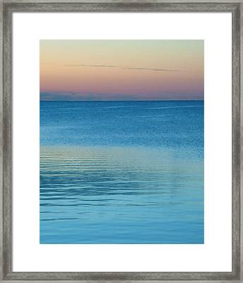Evening At The Lake Framed Print