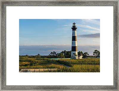 Evening At The Lighthouse Framed Print
