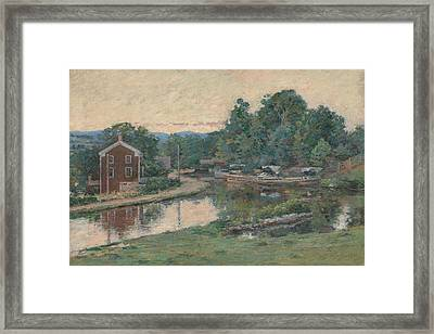 Evening At The Lock, Napanoch, New York Framed Print by Theodore Robinson