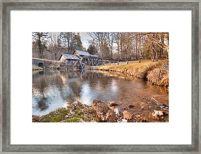 Evening At The Mabry Mill Framed Print by Gregory Ballos