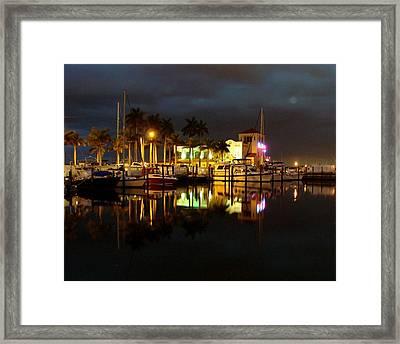 Evening At The Marina Framed Print
