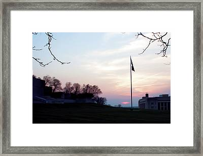 Evening At The Memorial Framed Print