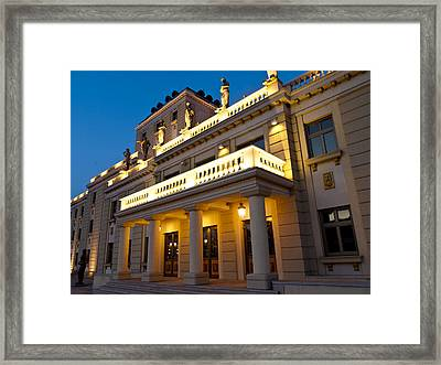 Evening At The National Theater Framed Print by Rae Tucker