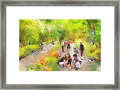 Evening At The Park Framed Print by Wayne Pascall
