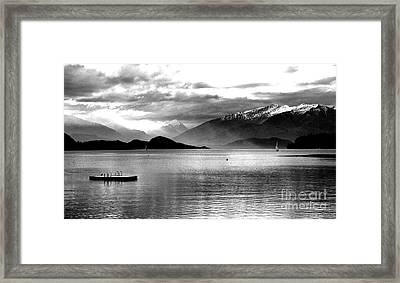 Evening At Wanaka Framed Print