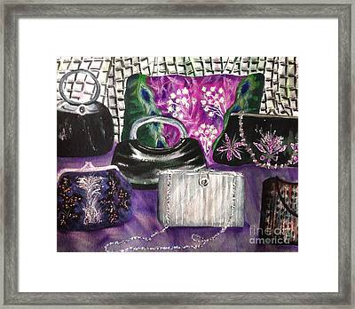 Evening Bags Framed Print by Karen Ann
