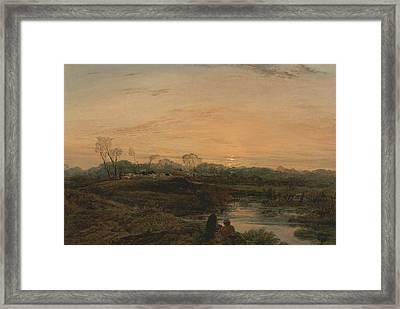 Evening, Bayswater Framed Print by John Linnell
