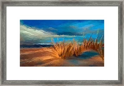 Evening Beach Dunes Framed Print