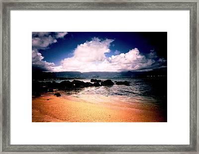 Evening Beach Hawaiian Style Framed Print by Judyann Matthews
