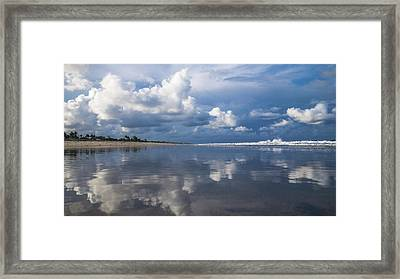 Evening Beach Walk 2 Delray Beach Florida Framed Print by Lawrence S Richardson Jr
