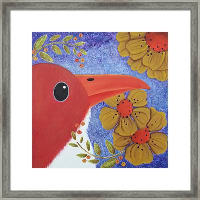 Evening Bird Framed Print by Clover Moon Designs Peggy Sowers-Heckman