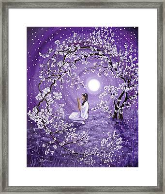 Evening Blessing Framed Print by Laura Iverson