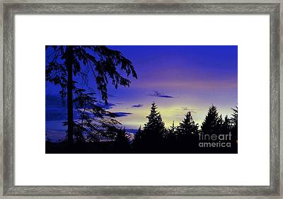 Framed Print featuring the photograph Evening Blue by Victor K