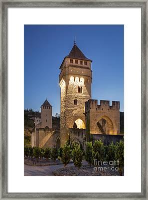 Evening Bridge - Cahors Framed Print