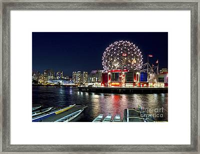 Evening By Science World Vancouver Framed Print by Maria Janicki